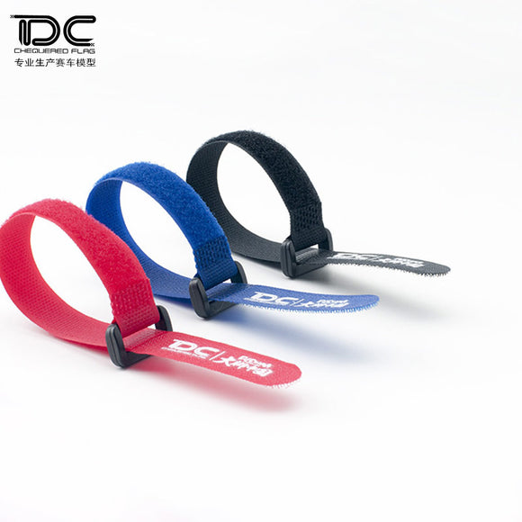 DC RC Have DC Logo Battery Cable Ties Red/Blue/Black  (2pcs)