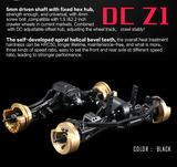 DC RC 1:10 D1-Z1 Front&Rear Axle Assembly Kit For DC1/SCX10/SCX10II DC-50521 (1pair)
