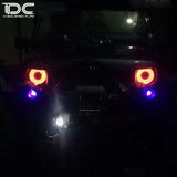 DC RC 1:10 Eye of Devil Front Big LED Light For JEEP WRANGLER (1PAIR)DCA-0144