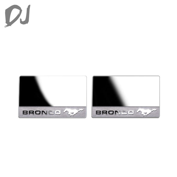 DC-DJ RC Metal Stainless Steel Mirror For Traxxas TRX-4 FORD BRONCO DJX-1036 (2PCS)