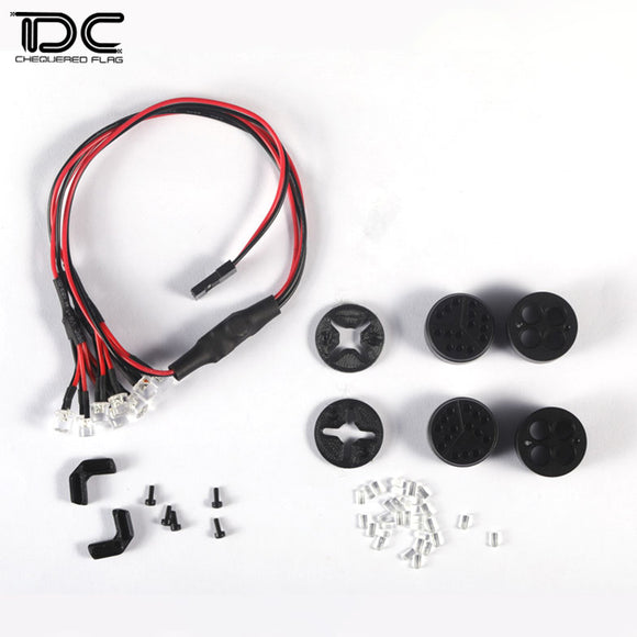 DC RC 1:10 CAR DAUNTLESS MAN FRONT LED LIGHT FOR JEEP WRANGLER DCA-0175 (1PAIR)