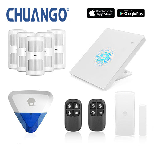 Chuango AW1 Plus 'Deluxe 280' WiFi Home Security Alarm