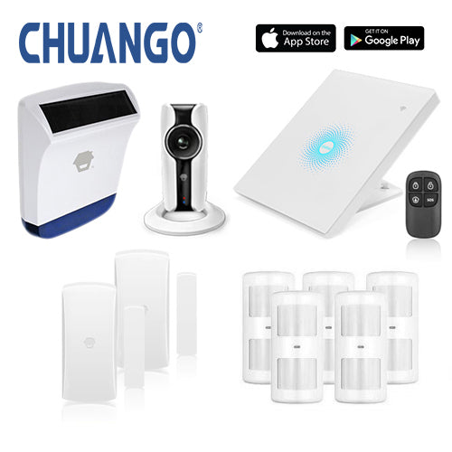 Chuango AWV Plus 'Deluxe 260' WiFi Home Security Alarm + IP Camera