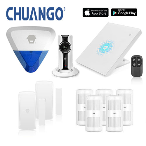 Chuango AWV Plus 'Deluxe 280' WiFi Home Security Alarm + IP Camera
