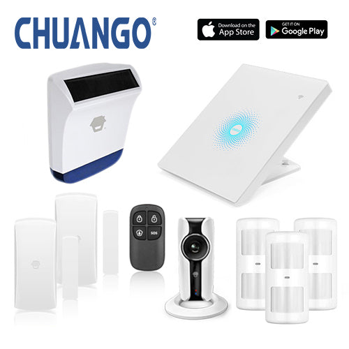 Chuango AWV Plus 'Premium 260' WiFi Home Security Alarm + IP Camera