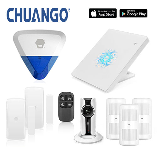 Chuango AWV Plus 'Premium 280' WiFi Home Security Alarm + IP Camera