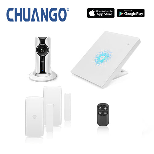 Chuango AWV Plus 'Starter' WiFi Home Security Alarm + IP Camera