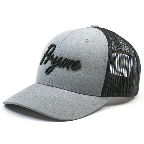 Pryme MX Curved Bill Cursive Snapback - Grey / Black