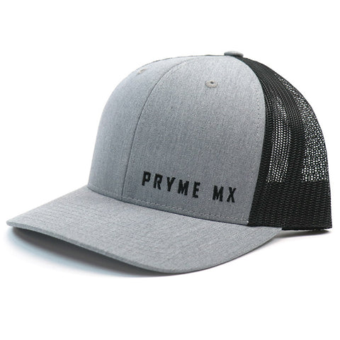 Pryme MX Curved Bill Text Snapback - Grey