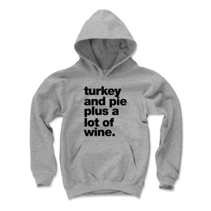 Thanksgiving Food Kids Youth Hoodie | 500 LEVEL