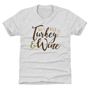 Thanksgiving Food Kids T-Shirt | 500 LEVEL