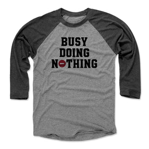 Funny Lazy Men's Baseball T-Shirt | 500 LEVEL