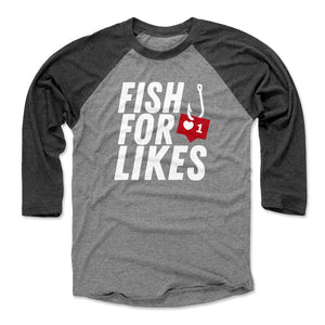 Funny Fishing Men's Baseball T-Shirt | Bald Eagle Tees