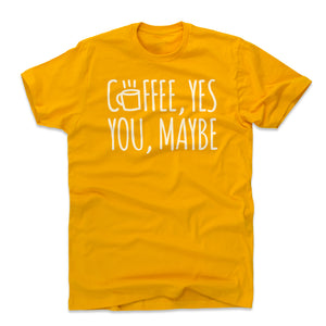 Cute Coffee Lovers Men's Cotton T-Shirt | 500 LEVEL