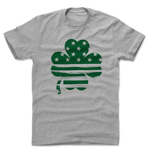 St. Patrick's Day 3 Leaf Clover Men's Cotton T-Shirt | 500 LEVEL