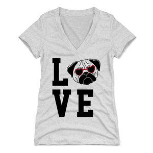 Pug Women's V-Neck T-Shirt | 500 LEVEL