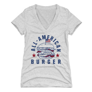 Burger Women's V-Neck T-Shirt | 500 LEVEL