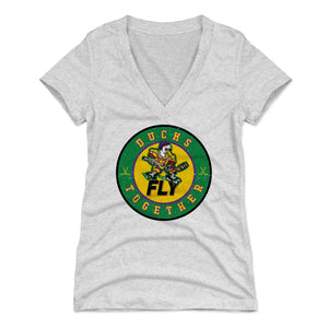 Mighty Ducks Women's V-Neck T-Shirt | 500 LEVEL