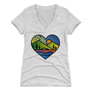 Nature Art Women's V-Neck T-Shirt | Bald Eagle Tees