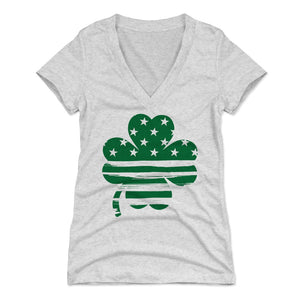 St. Patrick's Day 3 Leaf Clover Women's V-Neck T-Shirt | 500 LEVEL