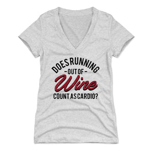 Wine Women's V-Neck T-Shirt | 500 LEVEL