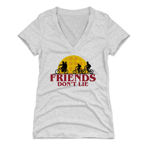 Stranger Things Women's V-Neck T-Shirt | 500 LEVEL