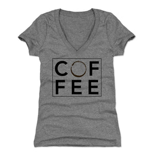 Funny Coffee Women's V-Neck T-Shirt | 500 LEVEL