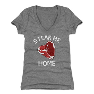 Steak Women's V-Neck T-Shirt | 500 LEVEL