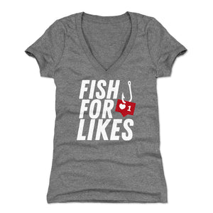 Funny Fishing Women's V-Neck T-Shirt | Bald Eagle Tees