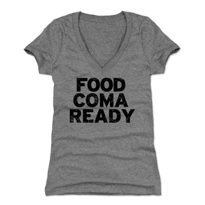 Food Coma Women's V-Neck T-Shirt | 500 LEVEL