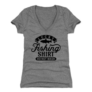 Fishing Lover Women's V-Neck T-Shirt | Bald Eagle Tees