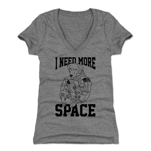 Funny Dog Women's V-Neck T-Shirt | 500 LEVEL