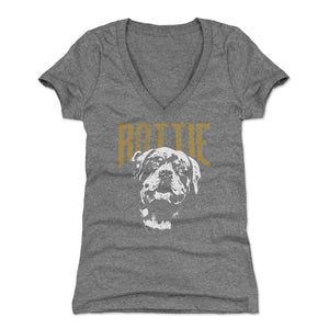 Rottweiler Women's V-Neck T-Shirt | 500 LEVEL