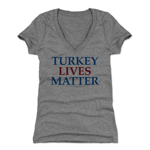 Funny Thanksgiving Day Women's V-Neck T-Shirt | 500 LEVEL