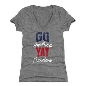 4th of July Women's V-Neck T-Shirt | 500 LEVEL