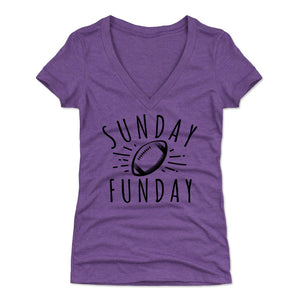 Football Women's V-Neck T-Shirt