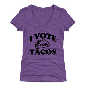 Tacos Women's V-Neck T-Shirt | 500 LEVEL