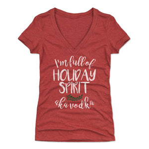 Christmas Drinking Women's V-Neck T-Shirt