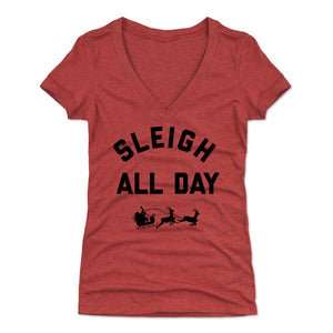 Sleigh All Day Women's V-Neck T-Shirt