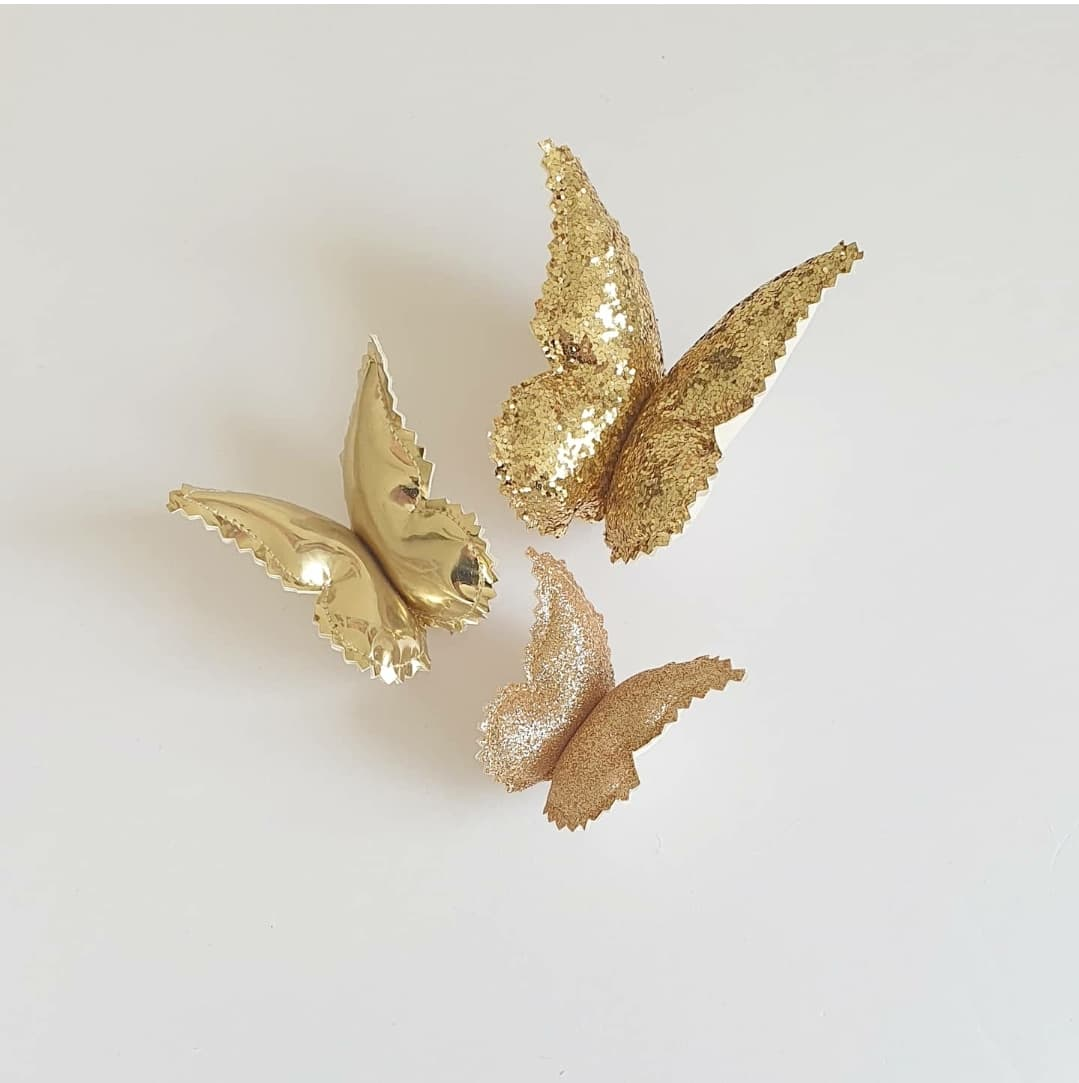 Butterfly Wall Decals © - Gold Glitz - 3 Pack - Due Mid Jan