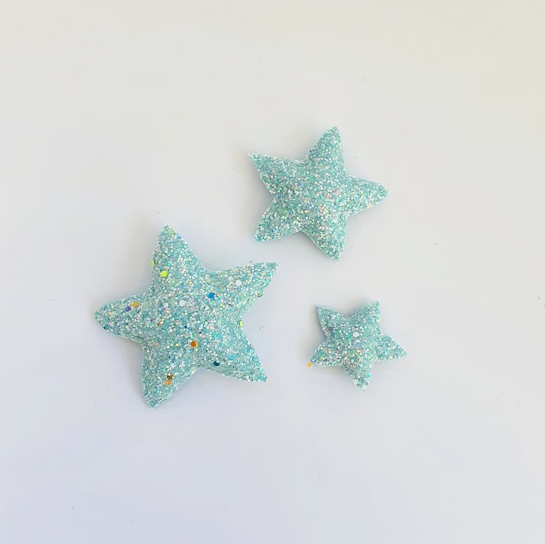 Star Wall Decals © - Mint Glow In The Dark - 3 Pack