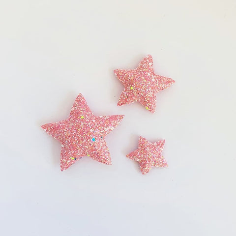 Star Wall Decals © - Pink Glow In The Dark - 3 Pack