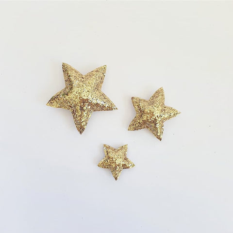Star Wall Decals © - Gold Chunky Glitter - 3 Pack