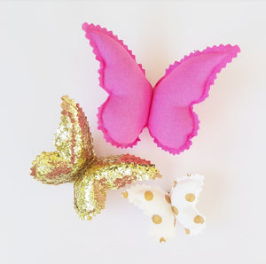 Butterfly Wall Decals © - Glamour and Glitz - 3 Pack
