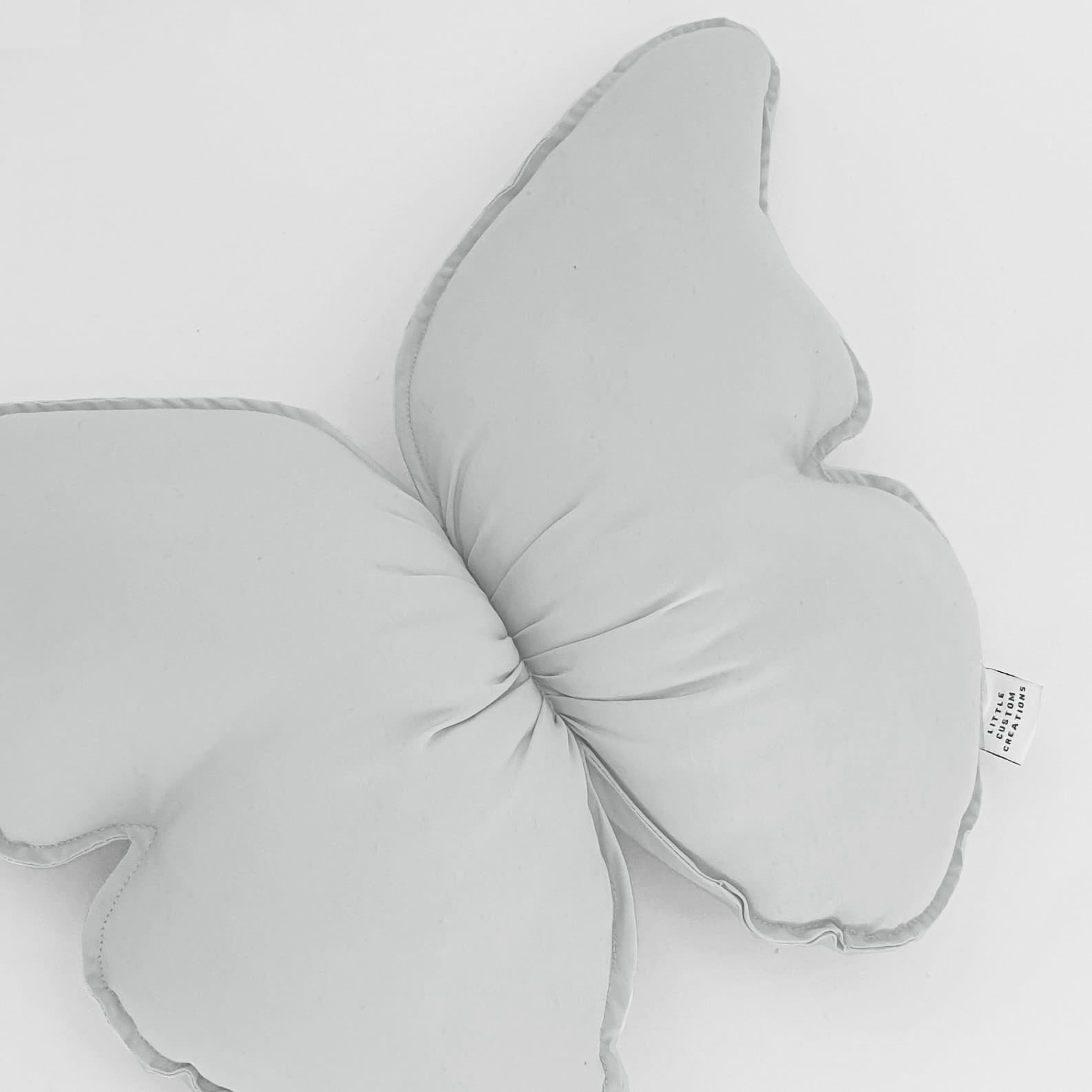 Butterfly Cushions © - Light Grey - Cotton - PRE ORDER