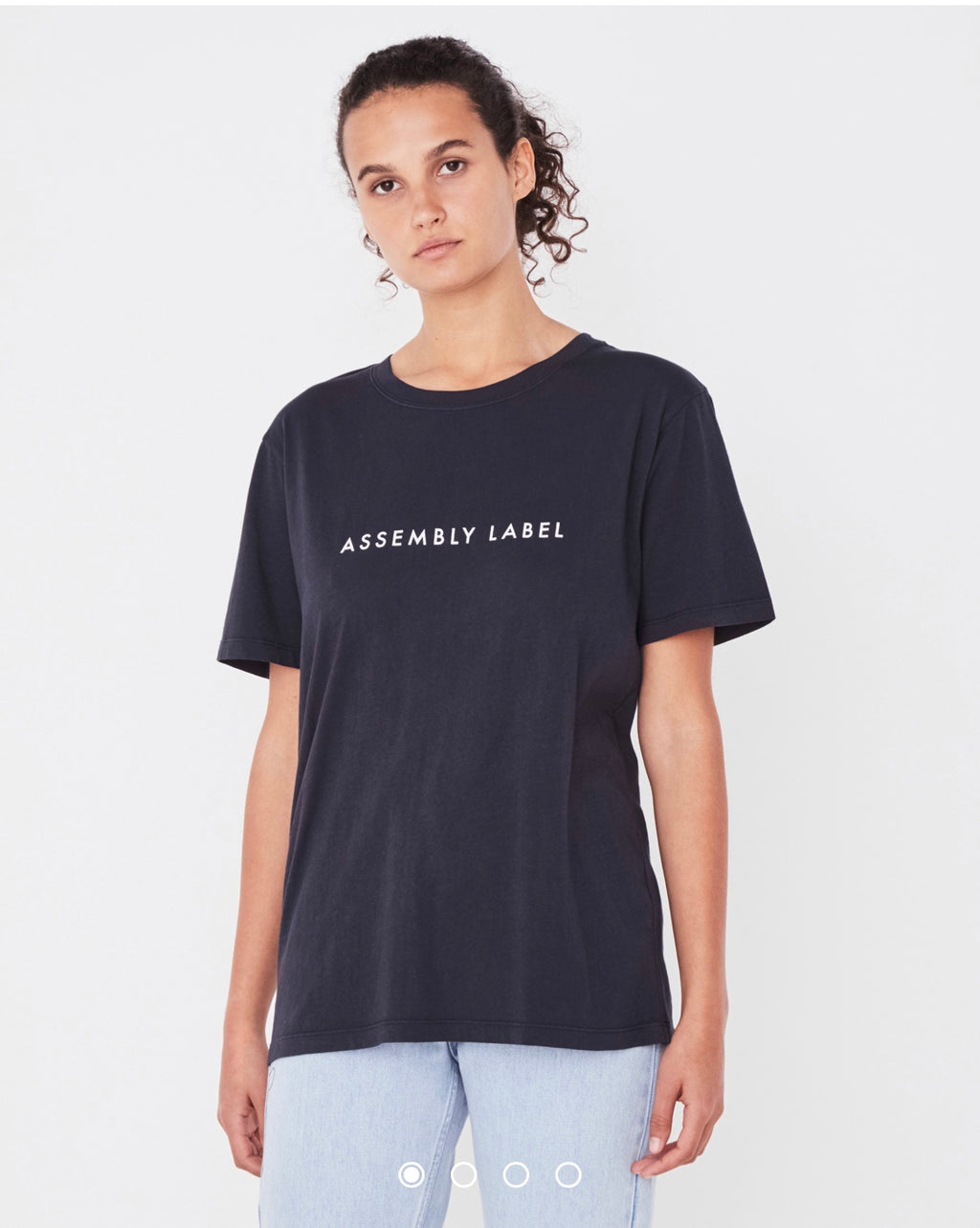 Assembly Label Logo Tee - True Navy