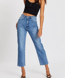 Lee High Straight Jeans - Supple Blue