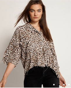 One Teaspoon Stone Leopard Montego Bay Shirt