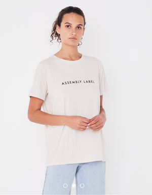 Assembly Label Logo Tee - White