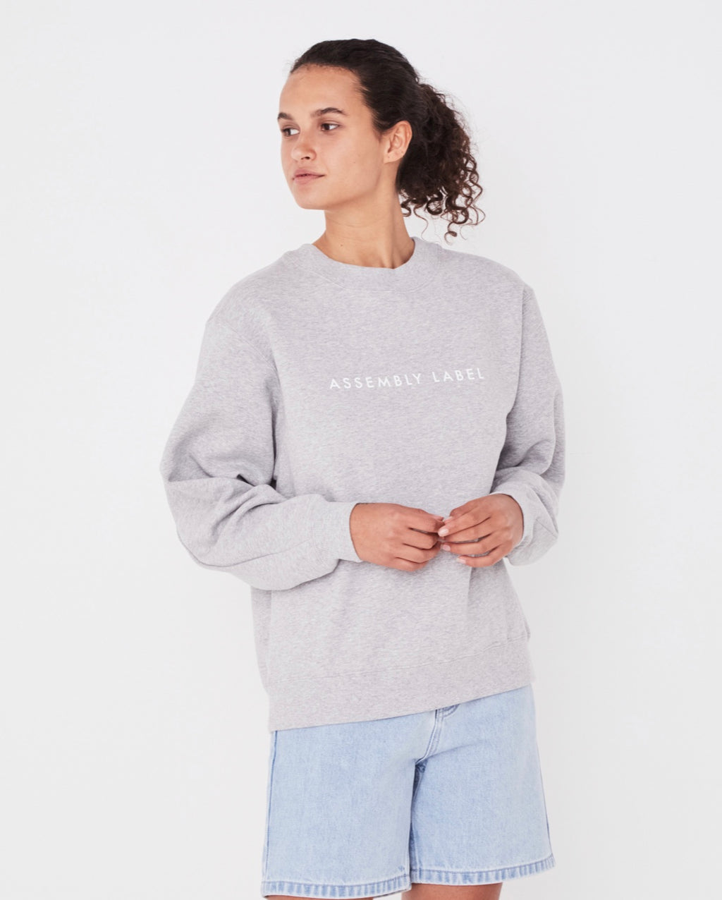 Assembly Label Logo Fleece - Grey Marle